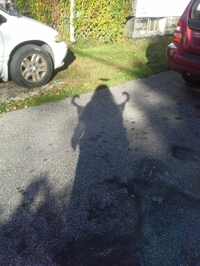 My shadow shows how cool I looked.