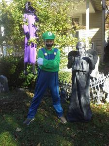 Luigi will go to the next castle while the weeping angel waits for you to blink.