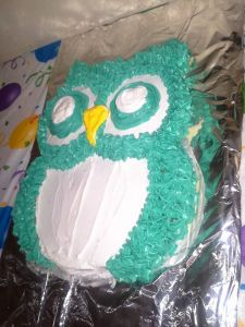 Orange flavored owl cake by me!