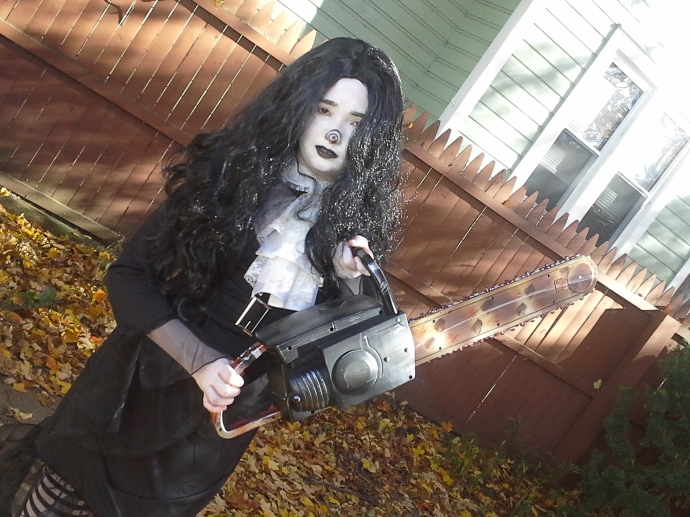 My daughter as the creepy pasta known as Laughing Jill